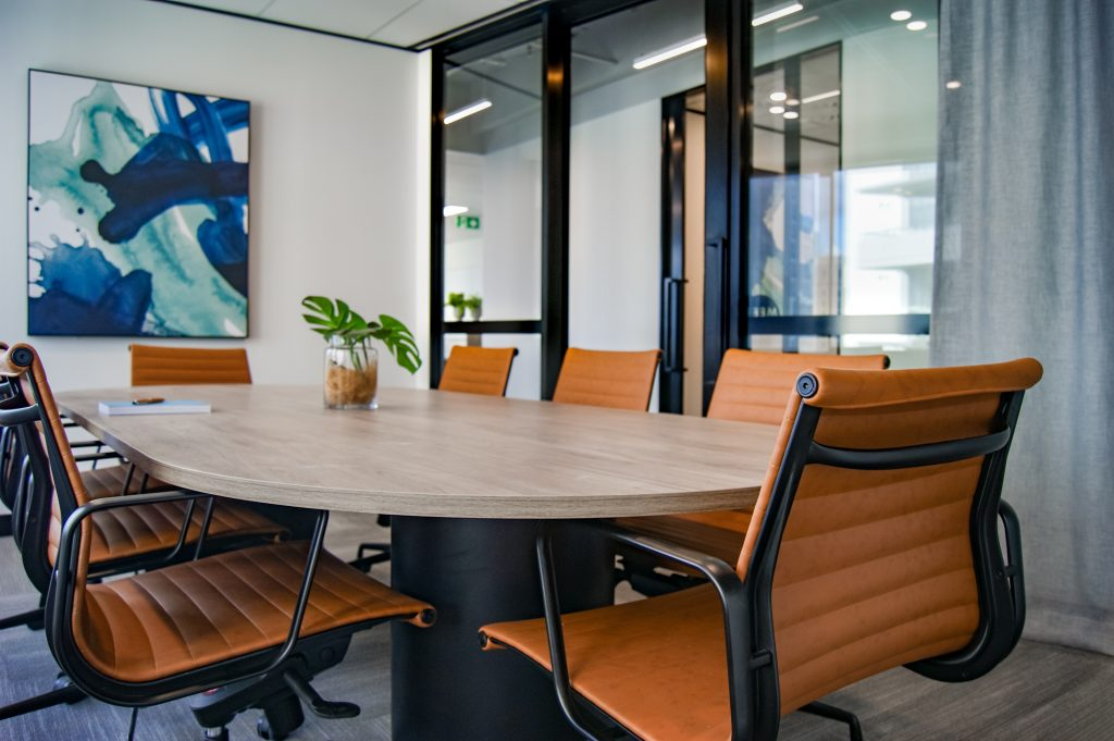 social table for office interior design